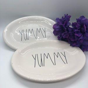 "Set of 2 Rae Dunn ""Yummy"" Plates"